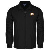 Full Zip Black Wind Jacket-Eagle Head