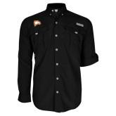 Columbia Bahama II Black Long Sleeve Shirt-Eagle Head