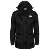Ladies Black Brushstroke Print Insulated Jacket-Eagle Head