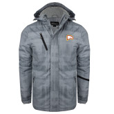 Grey Brushstroke Print Insulated Jacket-Eagle Head