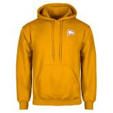 Gold Fleece Hoodie-Eagle Head