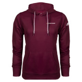 Adidas Climawarm Maroon Team Issue Hoodie-Primary Mark Flat
