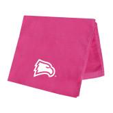 Pink Beach Towel-Eagle Head
