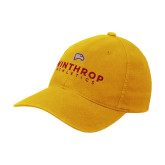 Gold Flexfit Mid Profile Hat-Winthrop Athletics
