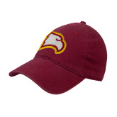 Cardinal Twill Unstructured Low Profile Hat-Eagle Head
