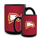 Full Color Black Mug 15oz-Eagle Head