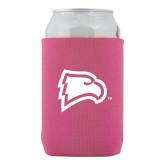 Neoprene Hot Pink Can Holder-Eagle Head