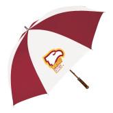 62 Inch Cardinal/White Umbrella-Winthrop Eagles w/ Eagle Head