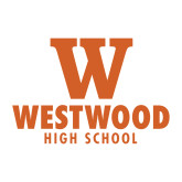 Medium Decal-W Westwood High School Stacked, 8 inches wide