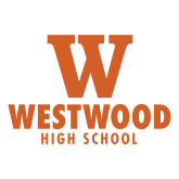 Large Decal-W Westwood High School Stacked, 12 inches wide
