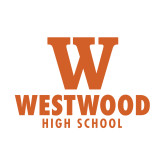 Small Decal-W Westwood High School Stacked, 6 inches wide