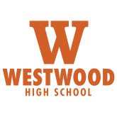 Extra Large Decal-W Westwood High School Stacked, 18 inches wide