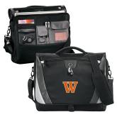 Slope Black/Grey Compu Messenger Bag-W