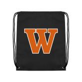 Black Drawstring Backpack-W
