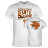 White T Shirt-Tennis State Champs 2018