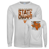 White Long Sleeve T Shirt-Tennis State Champs 2018
