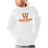 Under Armour White Armour Fleece Hoodie-W Westwood High School Stacked