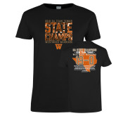Ladies Black T Shirt-Tennis State Champs 2018