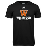 Adidas Climalite Black Ultimate Performance Tee-W Westwood High School Stacked