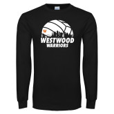 Black Long Sleeve T Shirt-Skyline in Volleyball