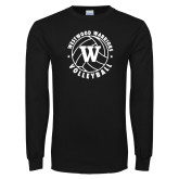 Black Long Sleeve T Shirt-W on Volleyball