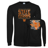 Black Long Sleeve T Shirt-Tennis State Champs 2018