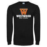 Black Long Sleeve T Shirt-W Westwood High School Stacked