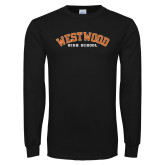Black Long Sleeve T Shirt-Westwood Arched