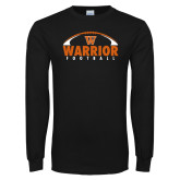 Black Long Sleeve T Shirt-Football Arched
