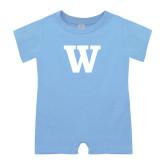 Light Blue Infant Romper-W