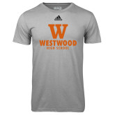 Adidas Climalite Sport Grey Ultimate Performance Tee-W Westwood High School Stacked