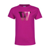 Youth Cyber Pink T Shirt-W Foil