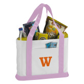Contender White/Pink Canvas Tote-W