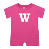 Bubble Gum Pink Infant Romper-W
