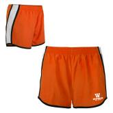 Ladies Orange/White Team Short-W Westwood High School Stacked