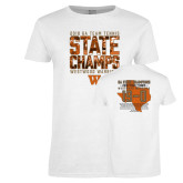 Ladies White T Shirt-Tennis State Champs 2018
