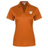 Ladies Orange Performance Fine Jacquard Polo-W