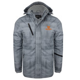 Grey Brushstroke Print Insulated Jacket-W Westwood High School Stacked