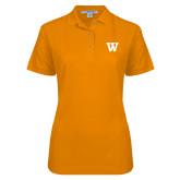 Ladies Easycare Orange Pique Polo-W