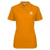 Ladies Easycare Orange Pique Polo-W Westwood High School Stacked