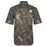 Camo Short Sleeve Performance Fishing Shirt-W