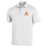 Under Armour White Performance Polo-W Westwood High School Stacked