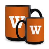 Full Color Black Mug 15oz-W