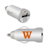 On the Go Silver Car Charger-W