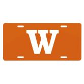 License Plate-W