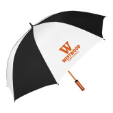 62 Inch Black/White Vented Umbrella-W Westwood High School Stacked