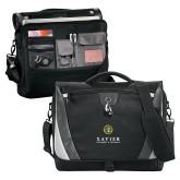 Slope Black/Grey Compu Messenger Bag-Xavier Seal Vertical