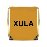 Gold Drawstring Backpack-XULA