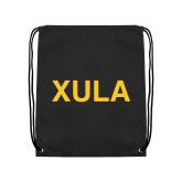 Black Drawstring Backpack-XULA
