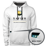 Contemporary Sofspun White Hoodie-College of Pharmacy